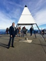 A geographical marker identifies Mt. Rigi as the base point for all surveying measurements across Switzerland.