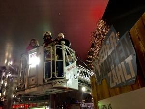 Child Rides on Fire Department Hoist