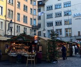 Most of Zurich's quaint Christmas markets open up late in the afternoon but remain pretty quiet until supper time.
