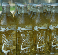 "Supposedly the name Almdudler comes from the phrase ""auf der Alm dudeln,"" which means ""yodeling in the (alpine) pasture."" Wikipedia photo by Loimo."