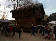 At the Norwegian Folk Museum, you can also take a buggy ride and peek inside traditional Norwegian log-cabin homes, many of which have docents who dress in the national costume and share Norwegian Christmas traditions.