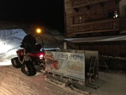 Check out our sweet ride up to the Felding ski hut.