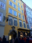 In 1747, Mozart was born in this Salzburg townhouse, where he and his family lived until they moved to bigger digs when he was 17 (and already famous and wealthy). Notice the crowd?