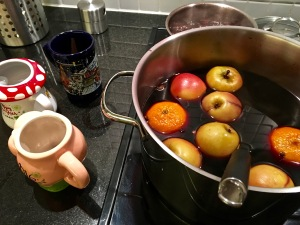 Behold, my first authentic batch of glühwein.