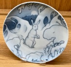Check out this awesome plate featuring an illustration by Theodor Kittelsen. You'd probably recognize one of his many fantastic illustrations of fairy tales and myths that depict trolls.