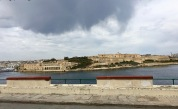 Across from Valletta, along Marsamxett Harbor, sits one of the traditional star-shaped forts of the Knights Hospitallers. Called Fort Manoel, it was built in the mid 1700s. The arched structure down near the water is Lazzaretto, a stone replacement for the wooden quarantine hospital built during the 1592-3 outbreak of the Black Plague. The Knights Hospitallers got their name because the monastic order, formed in 1023, was originally supposed to provide care for sick, poor, or injured pilgrims visiting the Holy Lands. (Back then, Christians made pilgrimages to Jerusalem like Muslims made a Hajj to Mecca). After the First Crusade and the conquest of Jerusalem in 1099, the Knights' charter was expanded to a militaristic one, licensing them to defend the Holy Lands. Lovely. They got to practice both how to put people in the hospital, and how to get them out.
