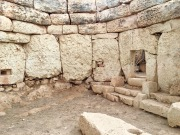 """The first apse on the left-hand side of the South Temple is incredibly intact, making it much easier to see how the walls stepped inward gradually to create a corbeled ceiling. The niches lead to other apses and may have acted as """"oracle holes."""""""