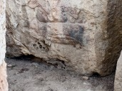 In the same chamber is my favorite, a carving of a sow with suckling piglets. It's much easier to see in person, but squint your eyes and I think you can just make out her little porker head and the row of babies attached to her belly.