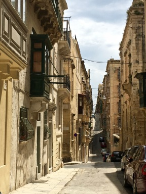 Malta has little tree cover, but lots of limestone, so Valletta is constructed of the yellow stuff. When the sun hits it, the whole city glows like gold -- an event that happens pretty regularly, since Malta has an average of 300+ days of sunshine per year.