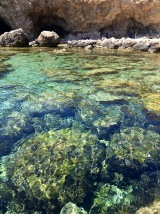 Behold the vividly clear waters of Ghar Lapsi.