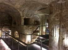 Some sections of the catacombs are enormous -- check out the columns holding up the roof in here.