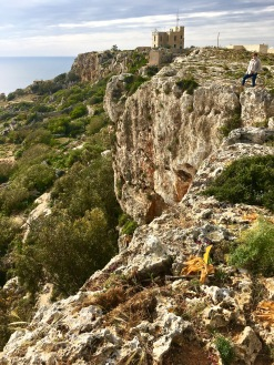 I'm testing my fear of heights here. So brave am I. BTW, in case you're wondering, the name Dingli comes from Sir Thomas Dingley, the Knights Hospitaller who owned land in the area.
