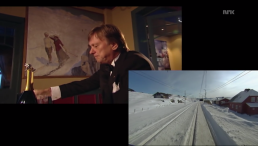 """Bergensbanen: Minutt for Minutt"" also featured historic footage of the route and its opening day; interviews with passengers, the conductor and crew; and views into historic hotels along the route, like this one in snowy Finse, Norway."