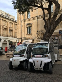 If you're feeling your inner diva, you can always get chauffeured around Valletta in one of these cutesy mini-cabs.