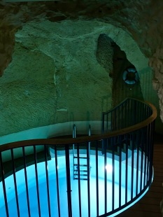 La Falconeria's basement houses its fitness room and plunge pool, made from the old townhouse cistern.