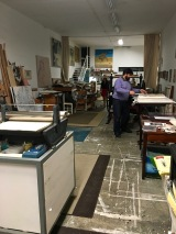 Jes gave us a tour of his home and studio, where we got a chance to see his process and how he creates his etchings.