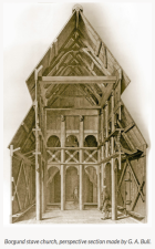"Norwegian Vikings had converted to Christianity by the mid 11th century. But they took the basic construction of their mead halls and longhouses and transferred them to their churches. Note the central aisle and side aisles of Borgund Church, supported by tall wooden pillars, called stafr (""staffs""). That's why these structures are called Stavkirker (""Stave/Staff Churches."") For more about this church, check out my post, ""Stegastein & Stave Churches."""