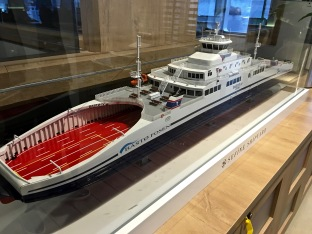 To me, this model of our ferry makes it look a little like a baleen whale.