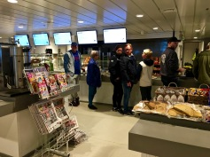 The ferry's cafeteria comes stocked with hot and cold meals and beverages, reading materials so you can catch up on your daily dose of celebrity smut, and Norwegian waffles. What more could you hope for?