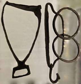 Stirrups didn't become common for Scandinavian men until after the Viking Age. Because of its small size, this Viking stirrup (left) could only have been used by a woman. Other female equestrian gear, such as a wooden saddle equipped with a stuffed riding pillow, was also found with a horse skeleton in the gravesite.