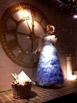 "The ritzy department store Steen & Strøm created some fun holiday windows featuring Disney princesses in haute couture gowns by Scandinavian designers. Here's Cinderella, or Askepott (""Ashes Pott""), as she's known in Norwegian."