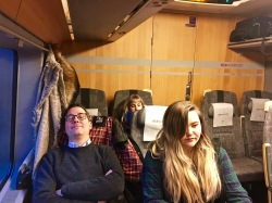 The NSB Komfort car lived up to its name -- we all cat-napped on the four-hour trip to Sweden. (Even McKenna, who has the pre-slumber stares in this pic.)