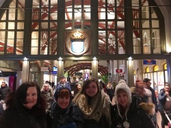 In Gothenburg's gorgeous train station, the whole family has assembled beneath the Tre Kronor -- the three crowns on the blue medallion that is the national symbol of Sweden.