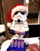 This merry-making storm trooper appropriately likes Stratos candy bars.