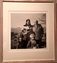 Pictured is Picasso with his young lover Françoise Gilot, and their two children Paloma and Claude. They never married, but he later left her for another woman, who became his second wife. When Françoise eventually wrote a book about her life with Picasso, he tried (unsuccesfully) to stop the publication. He then refused to see his son and daughter ever again.