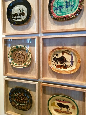 "One whole wall in the museum is devoted to Picasso's platters. You'll see depictions of his pet owl, his girlfriend, and of course, bullfighters. To Picasso, the bullfight depicted the power struggle between men and women, with the bull being the man and the horse being the woman. Picasso was notorious for his poor treatment of women and allegations of domestic abuse. He once said that there were only two kinds of women ""goddesses or doormats."" Clearly, the #MeToo movement would have been hard for him to accept."