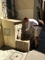 Check out the 1833 La Tourraque Fountain that spouts potable water. Just push the button to activate the pump. Perfect on a hot day.