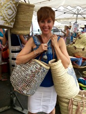 My current thing is funky woven market baskets and purses -- how can you pick just one? They're like puppies at the pet store, you don't want to leave any orphans behind.