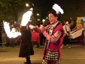 """The parade included a marching band and a group of fire jugglers. I loved the comment by the drag queen directing traffic, """"Stay 15 feet away from the flame throwers, people, lest you experience a meltdown. You're all wearing synthetic hair!"""""""