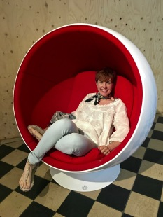 "Eero Aarnio's ""Pallo"" chair from 1966 has recently made a comeback as the ""bubble chair swing."" I've even seen versions equipped with stereo speakers to take advantage of the chair's ""room within a room"" quality."