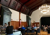 You can't miss the opportunity to dine in a Medieval / Art Nouveau mead hall.