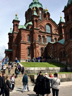 "We missed the service the day we visited, but we did see a Finnish Orthodox priest exiting later. After the assassination of Alexander II, his successor Alexander III rolled back many of his reformations and really pushed ""Russification"" of Finland. Once Finland won its freedom in 1917, Orthodox Finns saw the church as an oppressive symbol of Russian Imperialism and broke off as a separate branch."