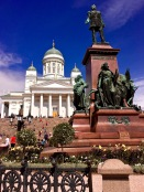 Finland was merely a region of Sweden until 1809, when Russia claimed the territory during the Finnish War and made the eastern third of Sweden into the Grand Duchy of Finland. Russian Czar Alexander II (the guy on the pedestal clutching Finland's constitution in his hand), gave the duchy even more autonomy in 1863. Alexander was a reformer who used Finland as a testing ground for his ideas on how to promote local self-government among Russian territories.